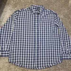 Haggar Men's Button Front Shirt Size Large